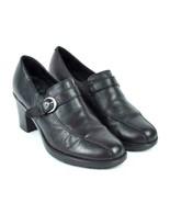 Dansko Black Leather Clogs High Heel Occupational Shoes Womens Size 38 /... - $34.64