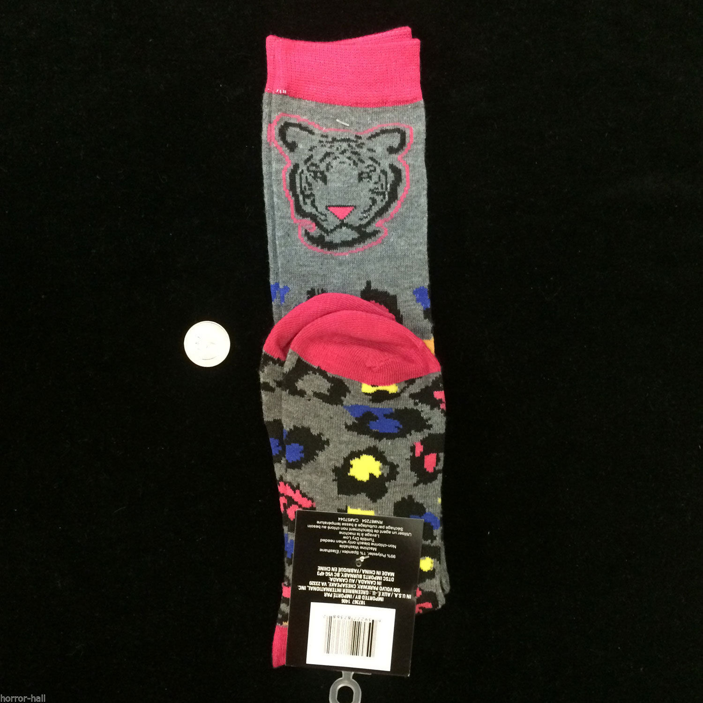 Funky Novelty--CHEETAH LEOPARD KNEE HIGHS SOCKS--Wild Animal Print Cheer Costume