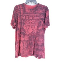 Affliction Graphic Tee Mens Size Large Red Crew Neck Short Sleeve T Shir... - £18.53 GBP