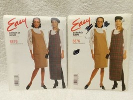 Vintage McCalls 8876 Sewing Pattern Miss Pullover Jumper EASY Lot Of 2 - $12.86
