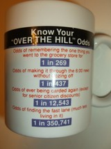 Over The Hill Odds Coffee Mug~~Hallmark~Vintage~Collectible Gag Gift~Shi... - $12.79