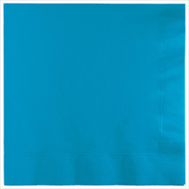 3 Ply Lunch Napkins Turquoise/Case of 500 - £31.45 GBP