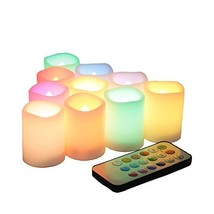 Flickering Battery Operated Color Changing Flameless LED Votive Candles ... - $20.64