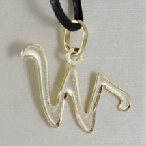 18K YELLOW GOLD PENDANT CHARM INITIAL LETTER W, MADE IN ITALY 0.75 INCHES, 19 MM image 2