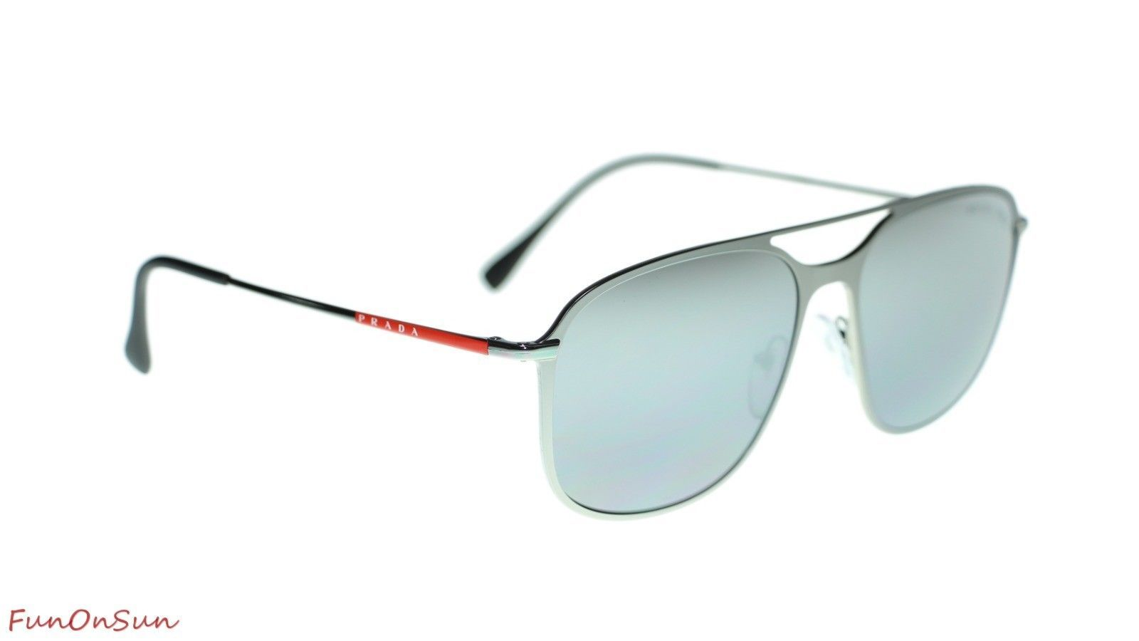 Prada Men  PS53TS 7CQ2F2 Matte Gunmetal/Polar Grey Mirror Silver Polarized Lens  image 3