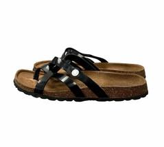 Betula by Birkenstock Vinja Black Patent Cross Strap Sandals Womens Size 38 - $32.19