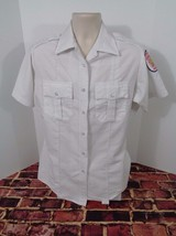 Vintage Alexandria Virginia Fire Department White Shirt Uniform Size 42 ... - $24.18