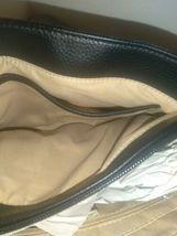 Giani Bernini Pebbled Genuine Black Leather Handbag Quilted Sides Crossbody Bag image 7