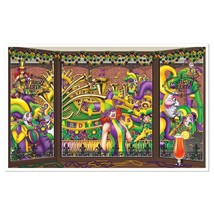 Mardi Gras Insta-View Wall Decoration Kit New Orleans - $8.79