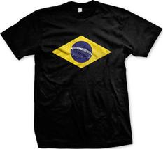 Brazil Flag Insignia Republica Federativa Brasil Futebol Soccer Mens T-s... - $10.99
