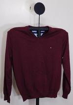 Tommy Hilfiger Tawny Port Signature Solid V-Neck Sweater - Large - $24.95