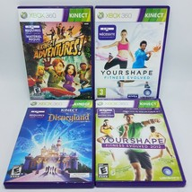 Microsoft XBox 360 Kinect 4 Game Lot - Adventures Disneyland Your Shape ... - $19.95