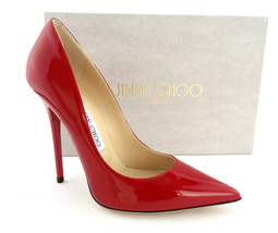 New JIMMY CHOO Size 6.5 ANOUK Flame Red Heels Pumps Shoes 36 1/2 NIB - $389.00