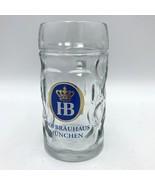 """Hofbrauhaus Munchen Glass Beer Mug Stein 6.5"""" .5L  - $12.99"""