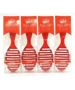4 Count Wet Brush Flex Dry Professional Pro Holiday Red Glitter Flexible... - $31.99