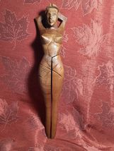 Vintage Hand Carved Wood Nude Woman Shape Nutcracker image 5