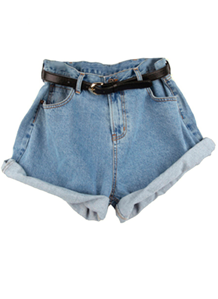 Primary image for sh31 CFLB High Waisted Oversized Baggy Rolled-up Boyfriend Denim Jean Shorts