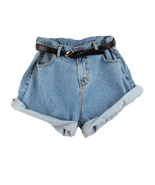 sh31 CFLB High Waisted Oversized Baggy Rolled-up Boyfriend Denim Jean Shorts - $26.99