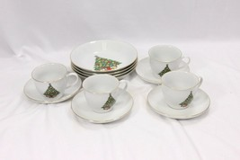 Jamestown Xmas Treasure Bowls Cups Saucers Lot of 12 - $51.45