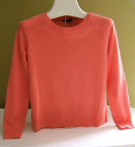 NEW! Theory Salmon Pink Crewneck 100% Cashmere Sweater Coral Jumper P S ... - $196.00