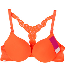 Fashion Women Bra Front Closure Sexy Lace Racer Back Smooth Surface Push Up Unde - $10.00