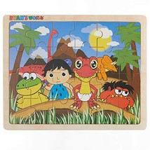 Ryan's World - Red Dino and Friends - 24 Piece Wooden Jigsaw Puzzle