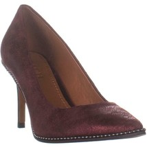 Coach Beadchain Pointed-Toe Pumps, Bordeaux, 9 US / 39 EU - $132.47
