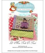 Lil' Miss Trick or Treat halloween cross stitch... - $7.00