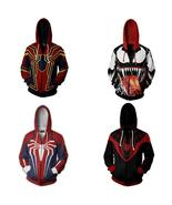 Cosplay Costume Hoodie Venom Spider Man Avengers Ps4 Sweatshirt Jacket - $34.52
