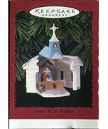 Vintage Hallmark Keepsake Christmas Ornament - Come All Ye Faithful Chur... - $4.94