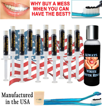 Natural Teeth Whitening Activated Charcoal Gel - Mint Flavor - Fresh Teeth White - $19.99