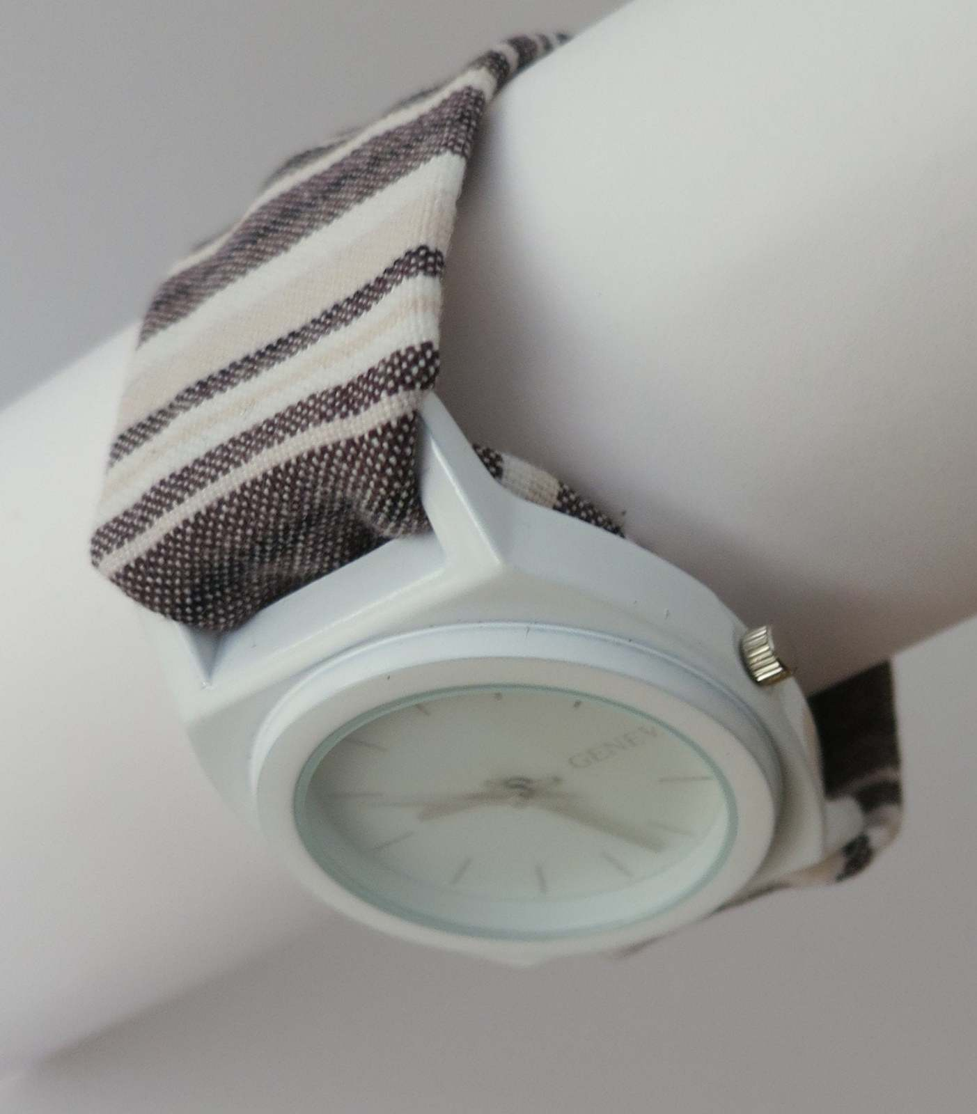 Oversized watch for woman, boyfriend style watch, unusual watch with two bands