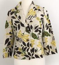 Banana Republic 6 Blazer Floral Linen - $18.43