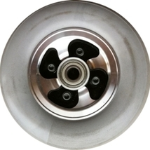 """X1 Front Wheel 200X50 Solid Urethane Gray Tire +Rim 8""""X2"""" mobility scoot... - $46.00"""