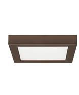 Satco S9334 Blink LED 7 inch Bronze Flush Mount Ceiling Light, Square - $35.59