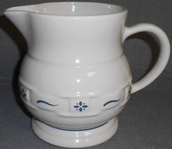 Longaberger CLASSIC BLUE WOVEN TRADITIONS 64 oz Water Pitcher #2 - $19.79