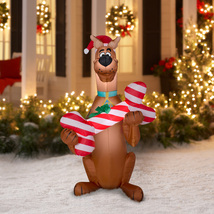 Christmas Yard Decor Dog Santa Hat Xmas Outdoor Decorations Inflatable A... - $46.98