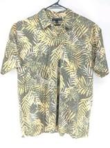 Tommy Hilfiger Hawaiian Print Polo Mens Sz XL Green Brown Leaves (u)   - $22.49