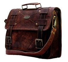 Handmade_World Men's Leather Messenger Bag Laptop Computer Handmade Bag image 4