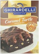 Ghirardelli Chocolate Turtle Brownie Mix 2 Boxes 18.5 oz Chewey Walnuts - $14.35
