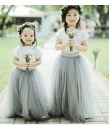 Cute Two Piece Flower Girl Dresses for Wedding - £72.58 GBP+