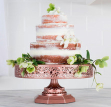 14 inch Rose Gold Wedding Cake stand Cupcake Stand Baby Shower cake stand  - $99.99