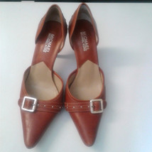 Michael Kors Red Classic Pointy Toe Heels With Buckle Size: 7M - $28.99