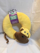 SUPER SOFT ANIMAL CHARACTER TRAVEL PILLOW (yellow) - $10.00