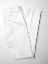 New Emporio Armani  Mens Tri-Slim Cotton White Pants Size 50 (34 US) - MSRP $495 - $149.29