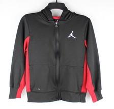 Jordan thermal fit youth kids pullover hoodie zipper black red L/G 12-13... - $17.81