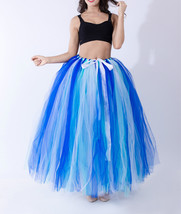 Summer Multi-Color Puffy Tulle Skirt Rainbow Tutu Costume Maxi Petticoat-OneSize image 3