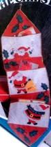 Santa's Mail Holder Sparkling Wall Decoration KIT Pockets NOS 1978 Jewel... - $12.86