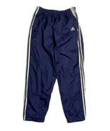 Adidas Men Size L (Measure 32x31) Navy Blue Tear Away Track Pants Elastic Waist - $22.56