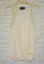 Sunday in Brooklyn Small Ivory Rayon Blend V Neck Sleeveless Over Blouse... - $18.54
